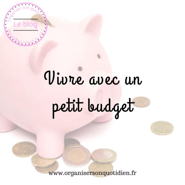Vivre avec un petit budget