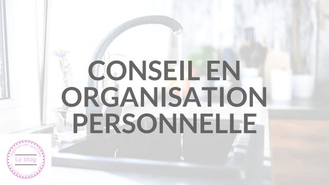 Service : conseil en organisation personnelle