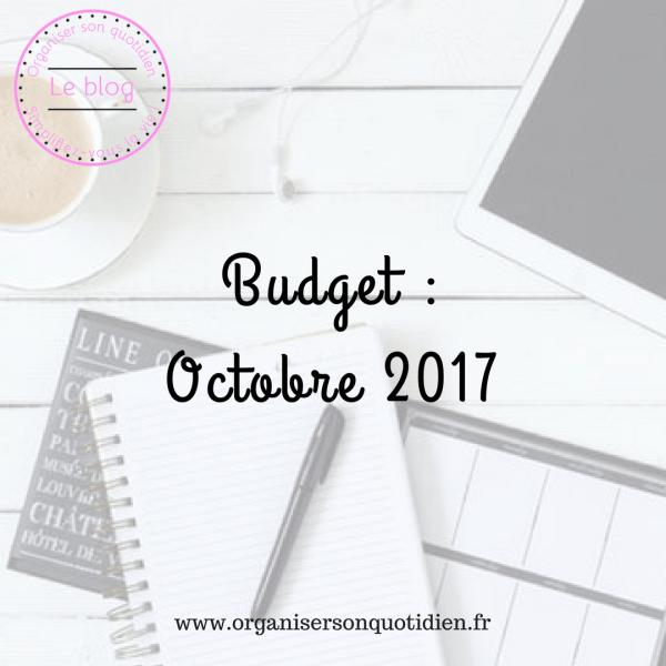 Bilan du budget d'octobre 2017