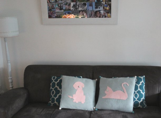 DIY cat and dog silhouette cushions - OrganisingChaosBlog