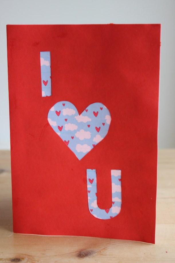 I heart U Card - OrganisingChaosBlog