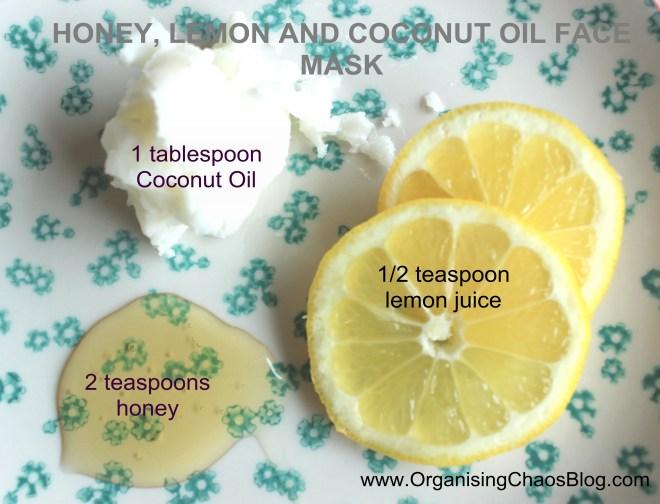 OrganisingChaosBlog - HONEY, LEMON AND COCONUT OIL FACE MASK