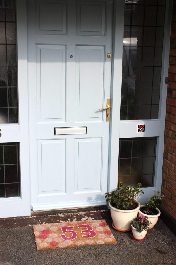 Personalise your own mat - front door1