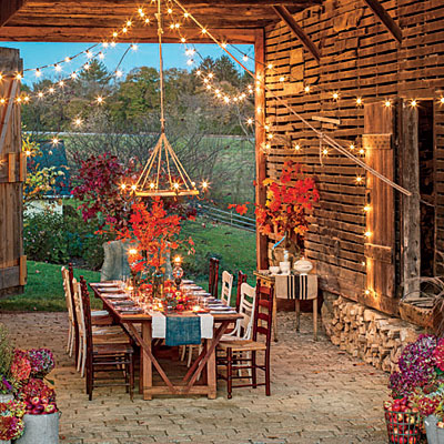 Weekly Inspiration - fall-barn-outdoor-dining-room-l