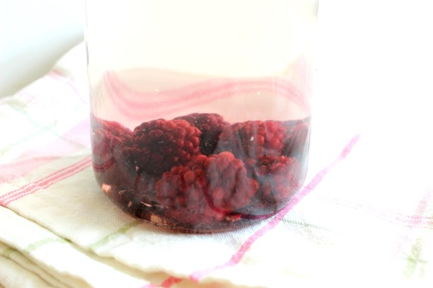 Organising Chaos - Raspberry infused water