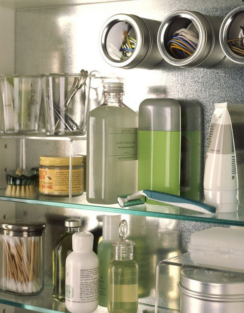 Spice magnetic canisters to help you get organized in the bathroom