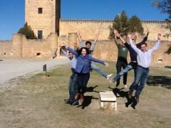 Desafío IPad Medieval en la explanada del Castillo de Pedraza