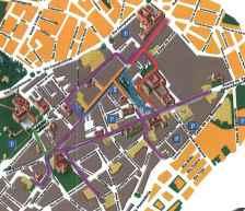 Mapa de Rutas de la Gincana IPad en Alcalá de Henares