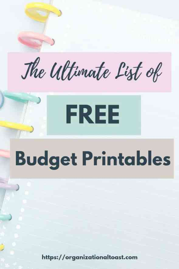 the ultimate list of free printable budget worksheets