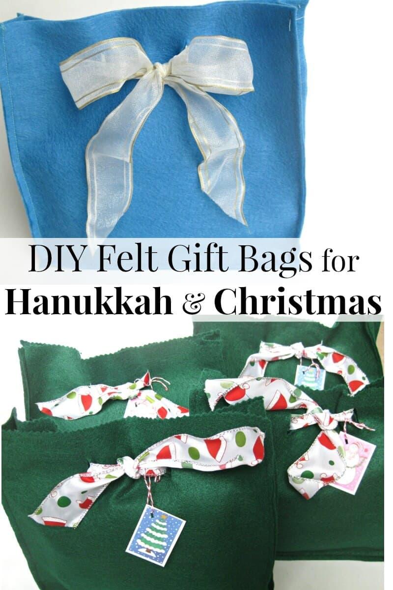 Felt Gift Bags - Easy Sewing Tutorial