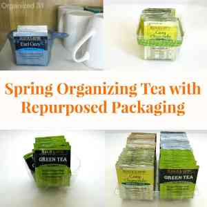 Spring Organizing Tea with Repurposed Packaging - Organized 31 #AmericasTea #shop