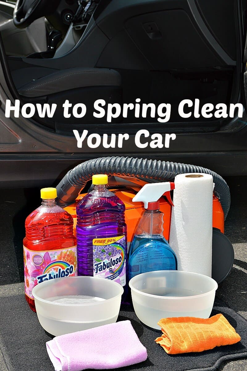 How to Spring Clean Your Car - Organized 31 #MiFabuloso #ad