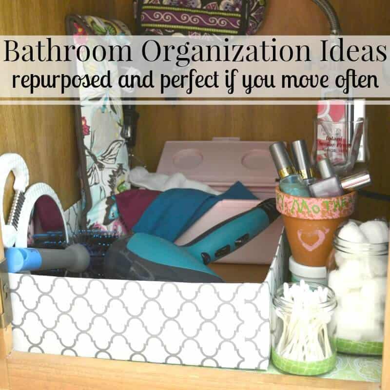 A Perfectly Organised Bathroom In One Day: Free Bathroom Organization Ideas
