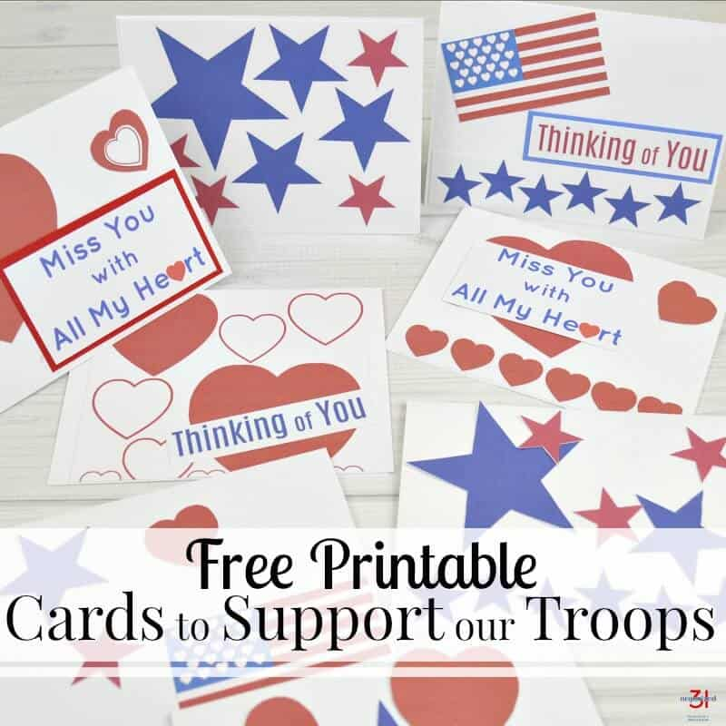 Cards To Support Our Troops Free Printable Organized 31