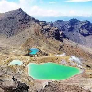 Three lakes Tongariro Crossing New Zealand