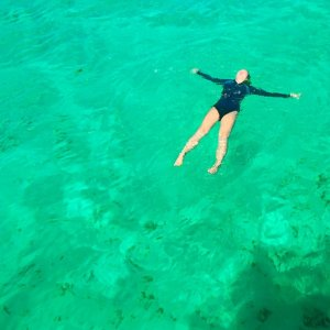 Aquamarine green water in the Philippines