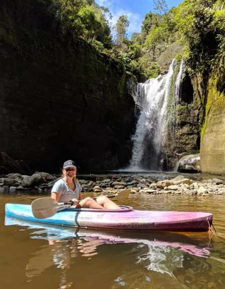 Kayaking at Blue Duck Station, North Island New Zealand