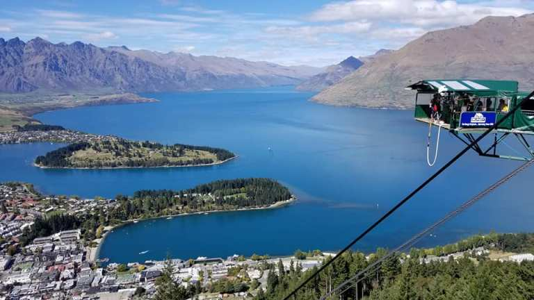 Queenstown views from the top of the Skyline Gondola