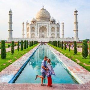 The iconic Taj Mahal, India