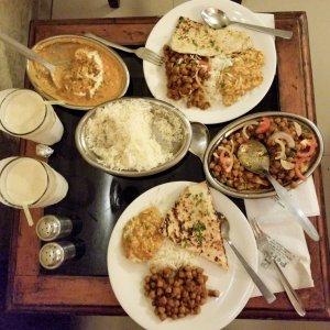 Our first meal in India - divine!!