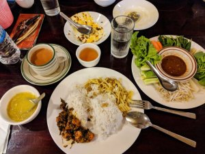 Lunch in Yangon Myanmar