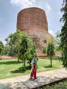 Dhamekh Stupa where Buddha gave his first sermon