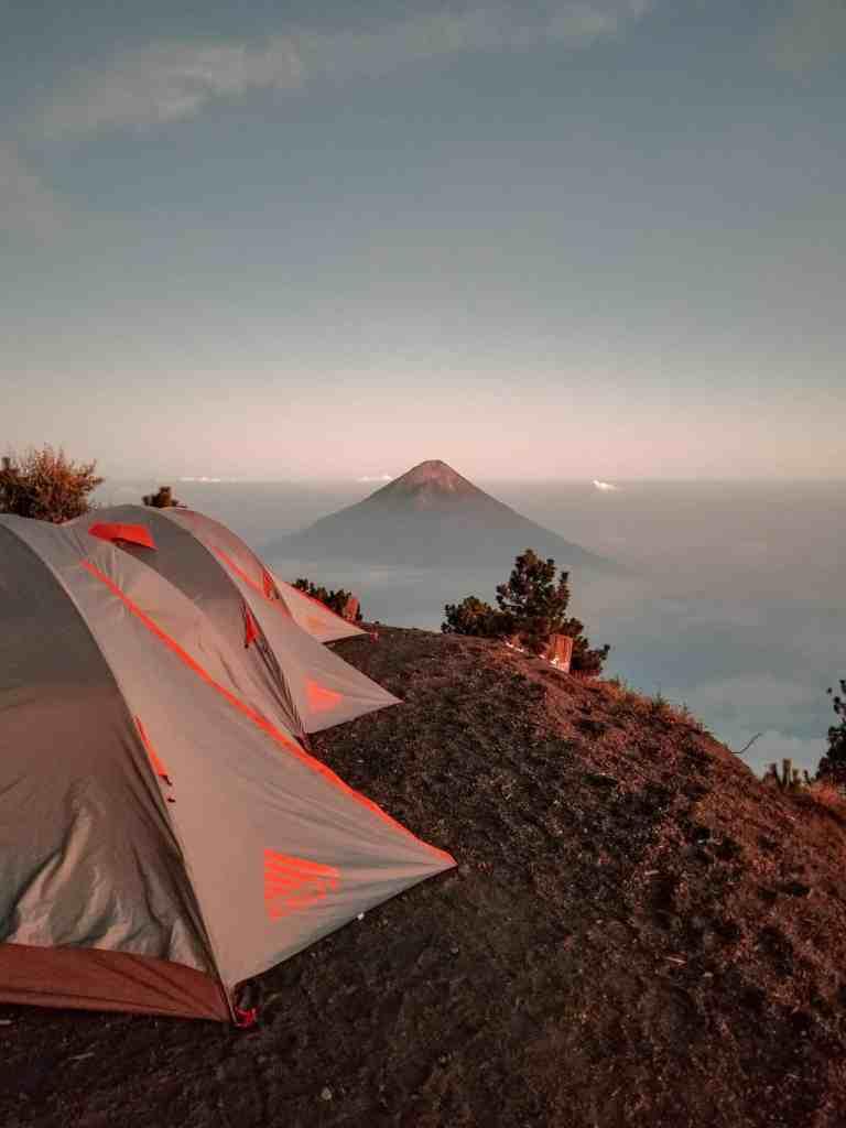 Campsite on Acatenango Volcano Guatemala