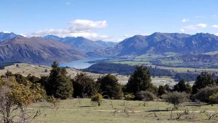View from Mount Iron Wanaka South Island New Zealand