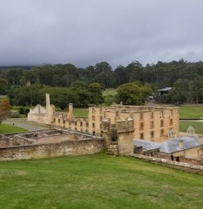 Port Arthur Penitentiary on the Tasman Peninsula in Tasmania Australia