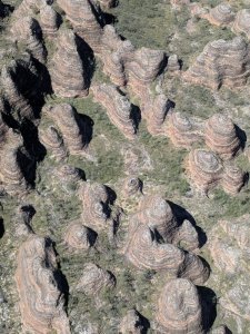 Aerial view over the Bungle Bungles