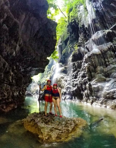 Body Rafting Green Canyon Java Indonesia