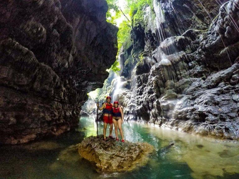Body Rafting Green Canyon Java Indonesia