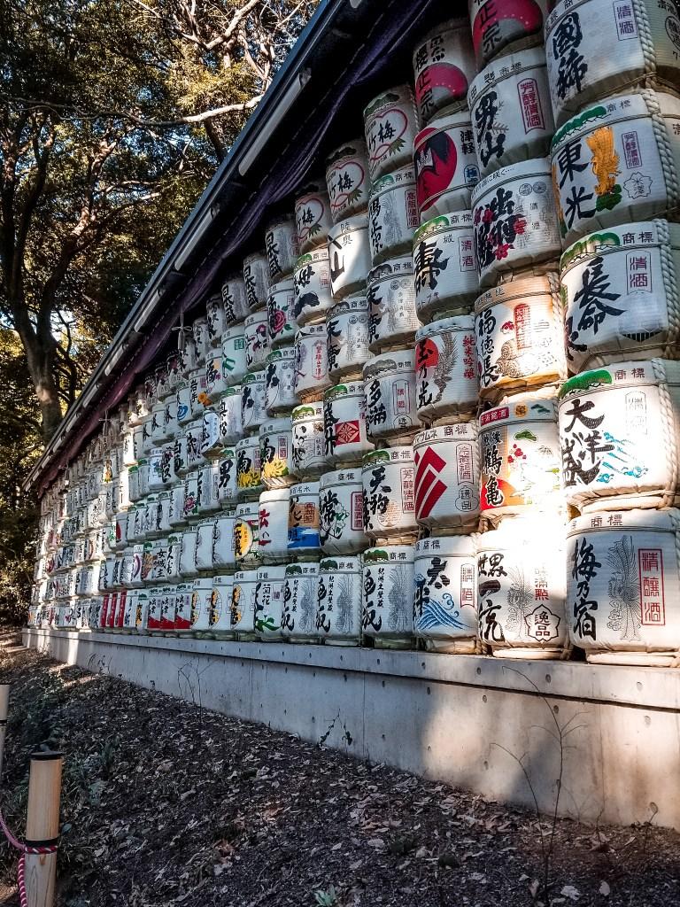 Sake kegs at Meiji Shrine.