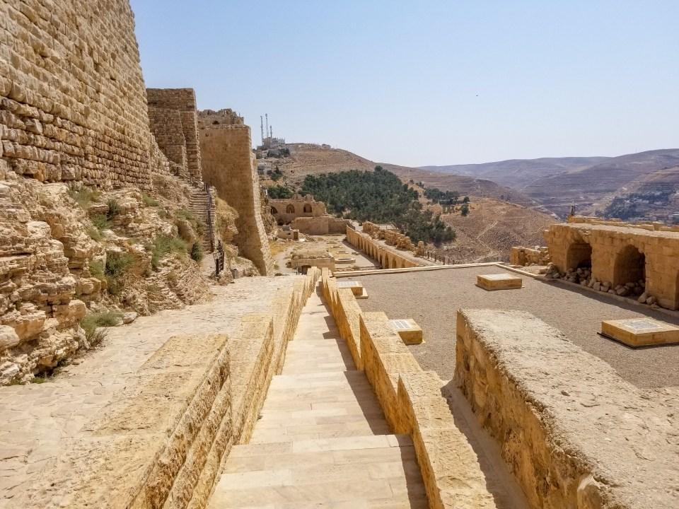 Karak Castle Ancient Ruins in Jordan