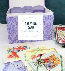greeting card organizer