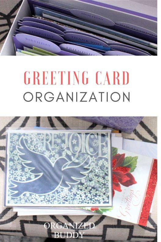 GREETING CARD ORGANIZATION TIPS