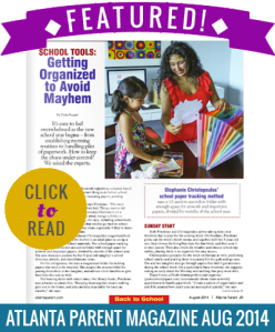 Stephanie Christopoulos Organized Chick Atlanta Parent Magazine Feature 2014