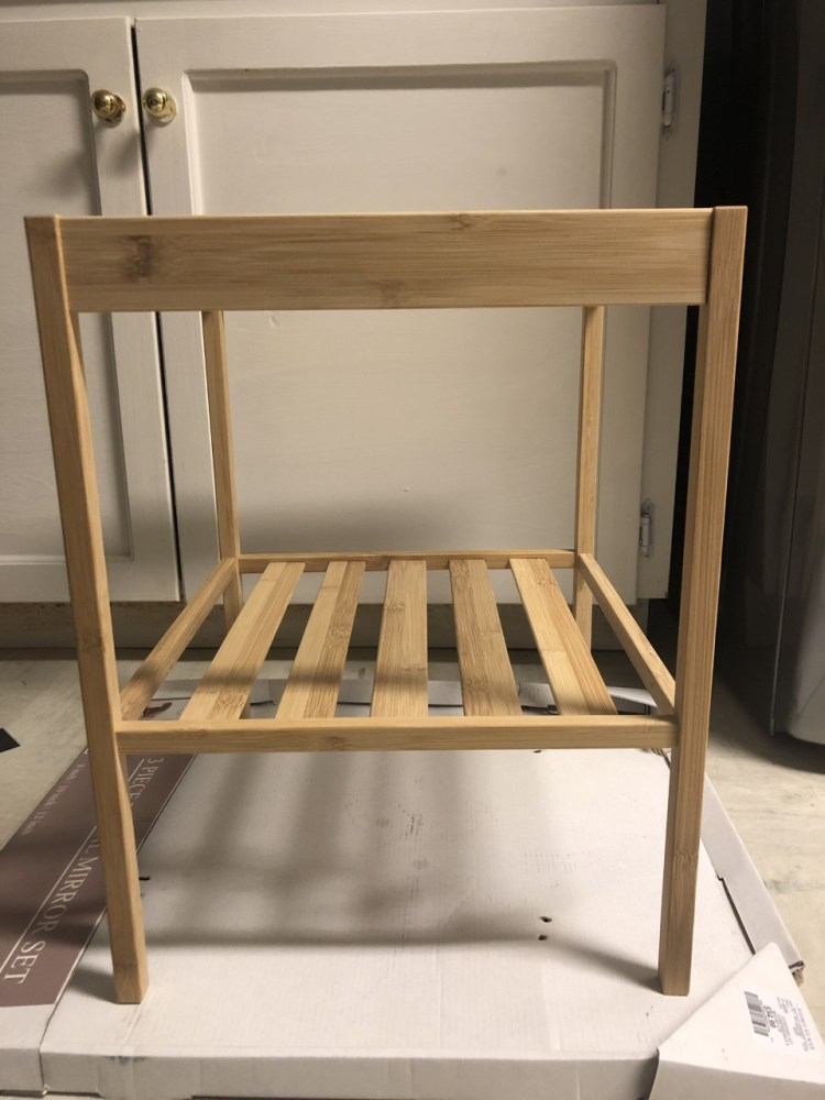 Before IKEA side table hack 1