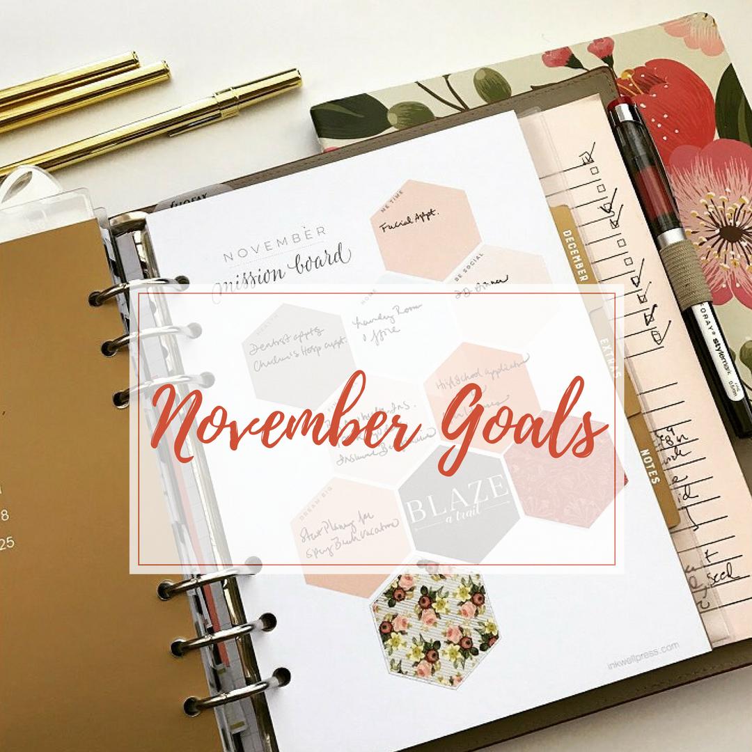 Monthly Goal Setting November Organized Maniac