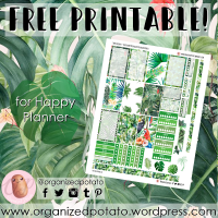 Free Planner Printable: Tropical Leaves