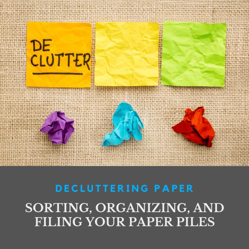 Title Image for Paper Declutter Blog