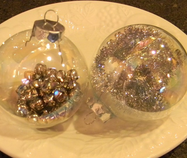 I Love Painted Glass Ornaments