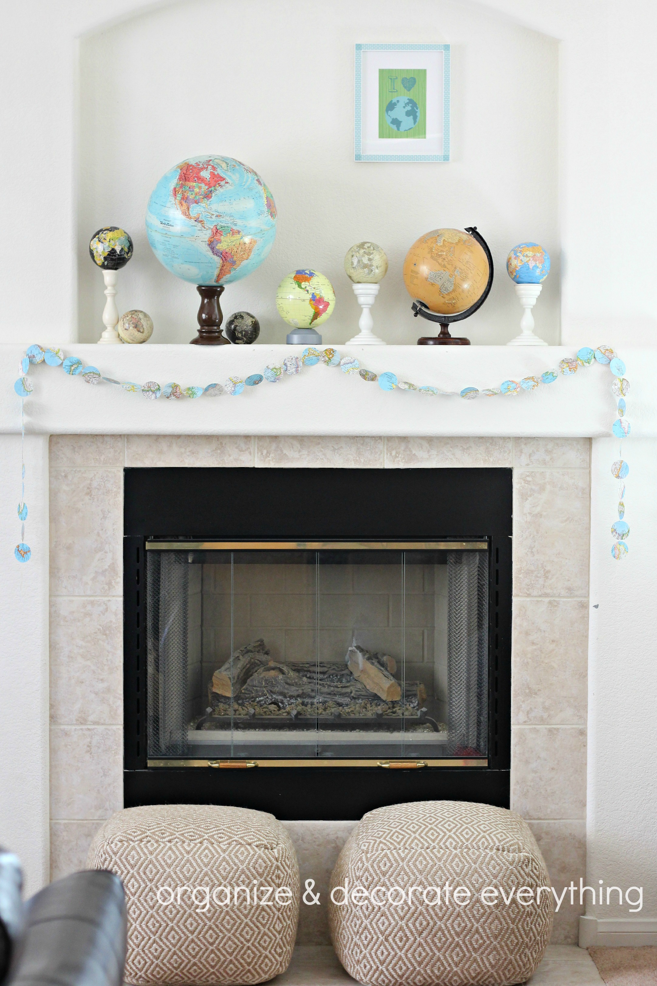 Earth Day Mantel And A Free Printable