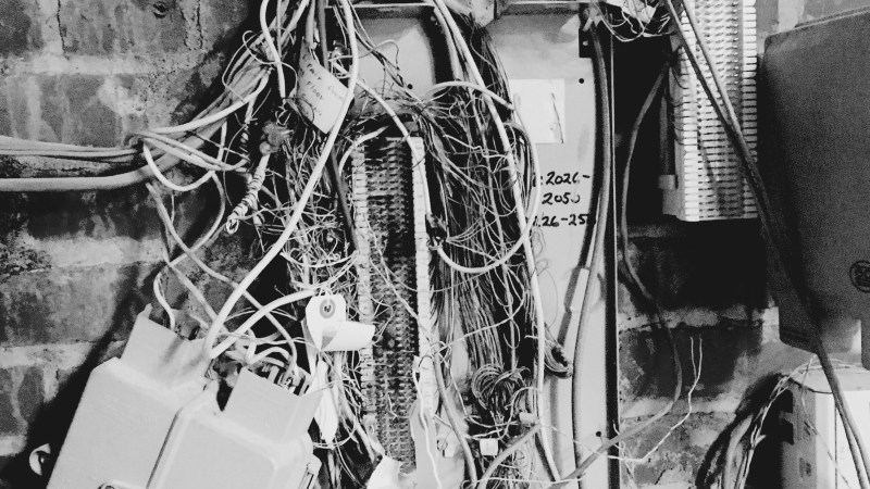 Messy NID (Network Interface Device) encountered on the job at TTX | Image courtesy of the author