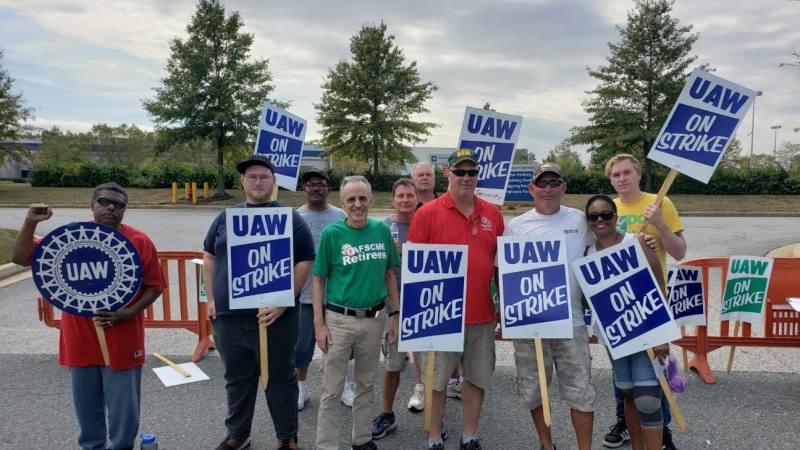 UAW picket at the White Marsh GM plant September 26 2019