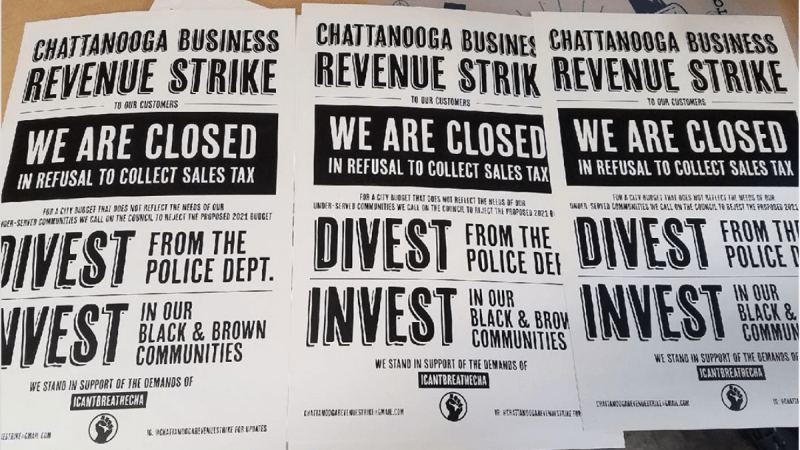 Chattanooga Revenue Strike Posters © Cameron Williams, 2020