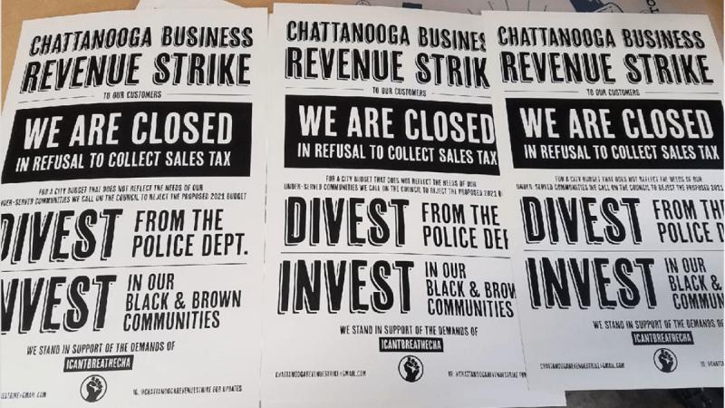 Chattanooga Revenue Strike Posters © Cameron Williams, 2020