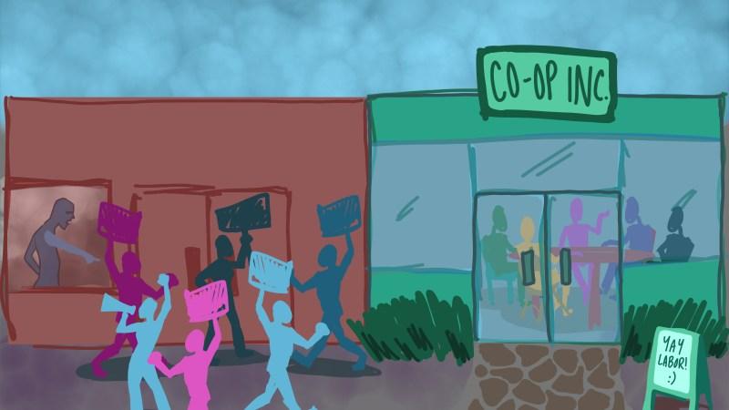 Worker cooperative vs. union