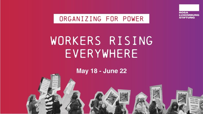 Workers Rising Everywhere poster