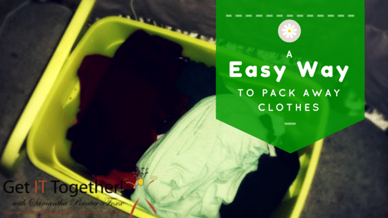 A Easy Way To Pack Away Clothes For The Season